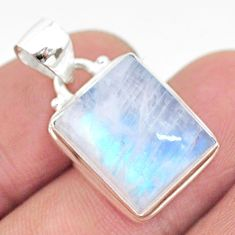 10.78cts natural rainbow moonstone 925 sterling silver pendant jewelry t23753