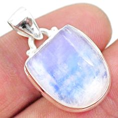 12.03cts natural rainbow moonstone 925 sterling silver pendant jewelry t23805