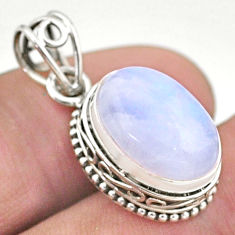6.82cts natural rainbow moonstone 925 sterling silver pendant jewelry t46753