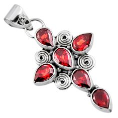 9.54cts natural red garnet 925 sterling silver holy cross pendant jewelry r55808