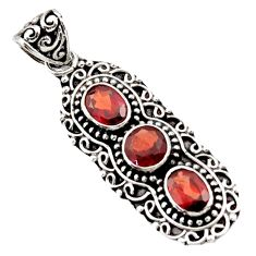 5.41cts natural red garnet 925 sterling silver pendant jewelry d44831