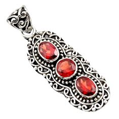 5.21cts natural red garnet 925 sterling silver pendant jewelry d44833