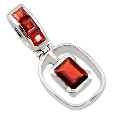 2.51cts natural red garnet 925 sterling silver pendant jewelry r43618