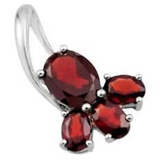 5.76cts natural red garnet 925 sterling silver pendant jewelry r45491