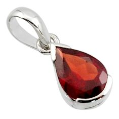 2.46cts natural red garnet 925 sterling silver pendant jewelry r45617