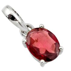 2.68cts natural red garnet 925 sterling silver pendant jewelry r45658