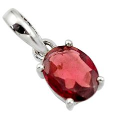 2.66cts natural red garnet 925 sterling silver pendant jewelry r45659