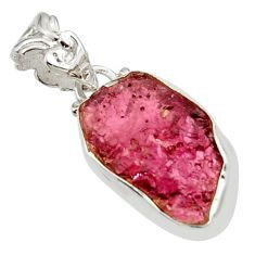 10.65cts natural red garnet rough 925 sterling silver pendant jewelry r29845
