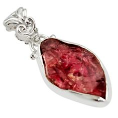 9.37cts natural red garnet rough 925 sterling silver pendant jewelry r29864