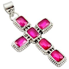 25.88cts natural red ruby 925 sterling silver pendant jewelry r35030