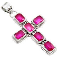 9.06cts natural red ruby 925 sterling silver pendant jewelry r35033