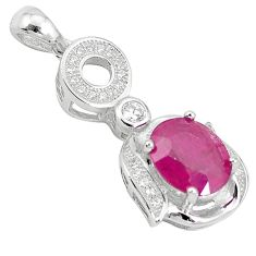 Natural red ruby topaz 925 sterling silver pendant jewelry c18194