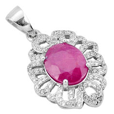 5.68cts natural red ruby topaz 925 sterling silver pendant jewelry c18009