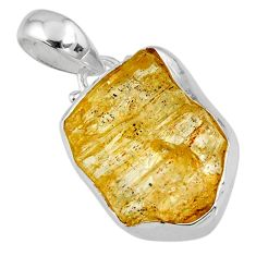 11.73cts natural scapolite fancy 925 sterling silver pendant jewelry r56561