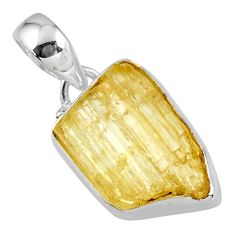 11.17cts natural scapolite fancy 925 sterling silver pendant jewelry r56563