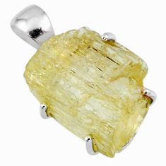 14.25cts natural scapolite fancy 925 sterling silver pendant jewelry r56721