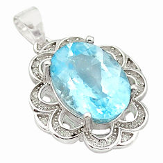 6.80cts natural blue topaz topaz 925 sterling silver pendant jewelry c18136