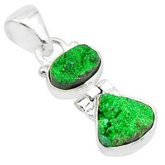 8.56cts natural uvarovite garnet 925 sterling silver pendant jewelry t5905