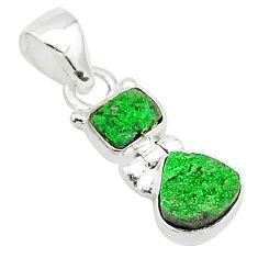 7.17cts natural uvarovite garnet 925 sterling silver pendant jewelry t5907