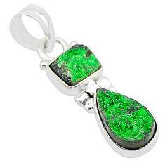 8.84cts natural uvarovite garnet 925 sterling silver pendant jewelry t5908