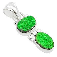 6.31cts natural uvarovite garnet 925 sterling silver pendant jewelry t5911