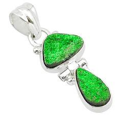7.17cts natural uvarovite garnet 925 sterling silver pendant jewelry t5915
