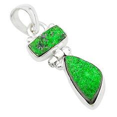 8.12cts natural uvarovite garnet 925 sterling silver pendant jewelry t5918