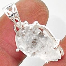 11.73cts natural white herkimer diamond 925 sterling silver pendant r30048