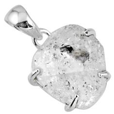 16.90cts natural white herkimer diamond 925 sterling silver pendant r56748