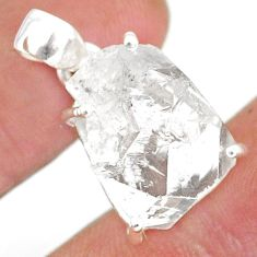14.79cts natural white herkimer diamond 925 sterling silver pendant r85325