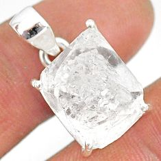 13.68cts natural white herkimer diamond 925 sterling silver pendant r85346