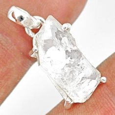 12.17cts natural white herkimer diamond 925 sterling silver pendant r85367