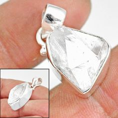 10.71cts natural white herkimer diamond 925 sterling silver pendant r85382