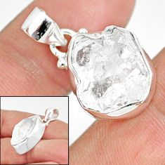 11.57cts natural white herkimer diamond 925 sterling silver pendant r85392