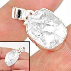 12.99cts natural white herkimer diamond 925 sterling silver pendant r85404