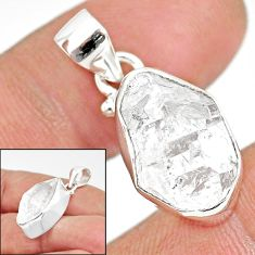 11.55cts natural white herkimer diamond 925 sterling silver pendant r85416