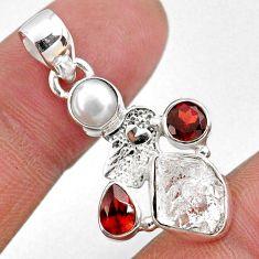 9.16cts natural white herkimer diamond silver hand of god hamsa pendant r61335
