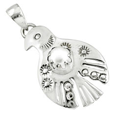 2.46cts natural white pearl 925 sterling silver birds charm pendant r77889