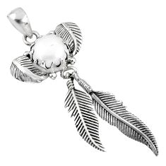 5.42cts natural white pearl 925 sterling silver dreamcatcher pendant r67663