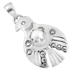 1.39cts natural white pearl 925 sterling silver eagle charm pendant r67652
