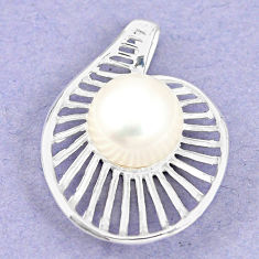 Natural white pearl 925 sterling silver pendant jewelry c23832