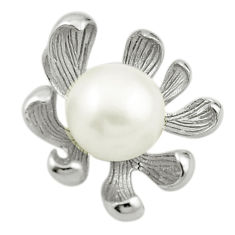 Natural white pearl 925 sterling silver pendant jewelry c23870