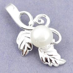 Natural white pearl 925 sterling silver pendant jewelry c24135