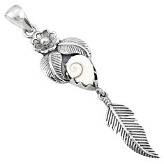 2.58cts natural white shiva eye 925 silver dreamcatcher pendant r67556