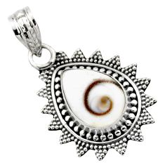 5.06cts natural white shiva eye 925 sterling silver pendant jewelry r53195