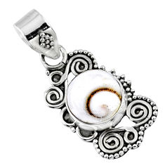 3.76cts natural white shiva eye 925 sterling silver pendant jewelry r57729