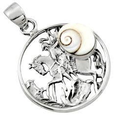 5.07cts natural white shiva eye 925 sterling silver unicorn pendant r52767