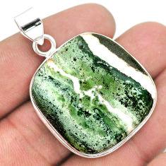39.16cts natural white zebra jasper 925 sterling silver pendant jewelry t41851
