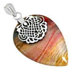 37.21cts natural willow creek jasper 925 sterling silver pendant jewelry r91122