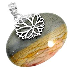 55.82cts natural willow creek jasper 925 sterling silver pendant jewelry r91124
